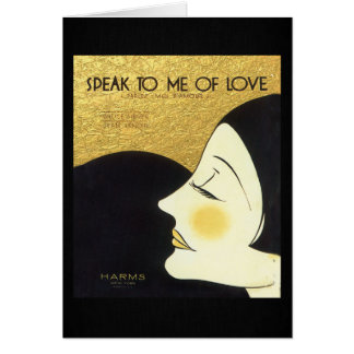 Vintage Speak to Me of Love 1930 Sheet Music Cover Greeting Card