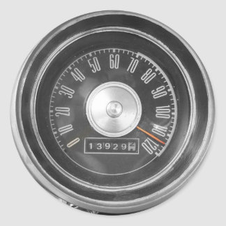Vintage Speed Classic Round Sticker
