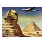 Vintage Sphinx Aeroplane Desert Pyramids Egypt