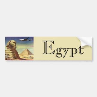 Vintage Sphinx Airplane Desert Pyramids Egypt Giza Bumper Sticker