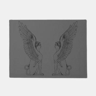 Vintage Sphinx illustration Doormat
