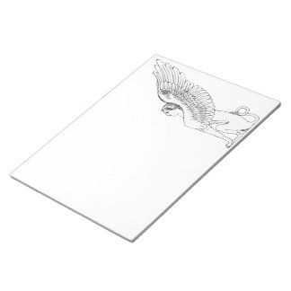 Vintage Sphinx illustration Notepad