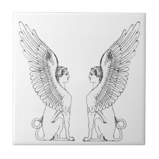 Vintage Sphinx illustration Tile