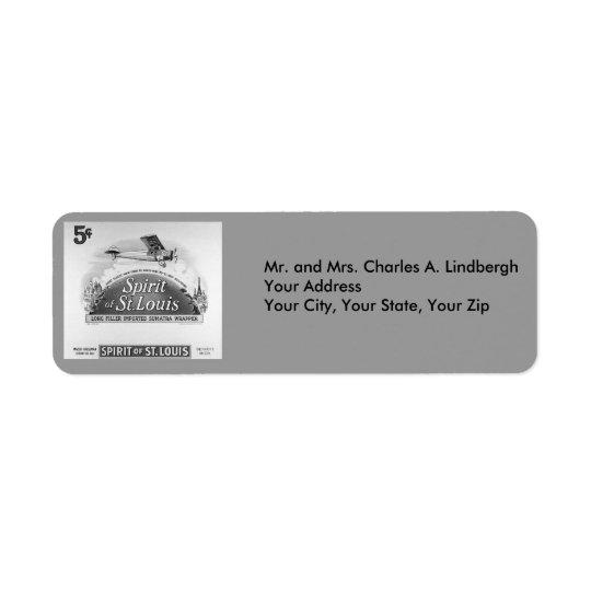 Vintage Spirit of St. Louis Cigar Label Return Address Label