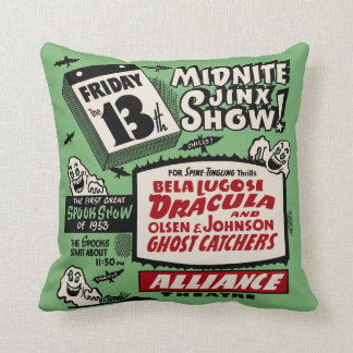 Vintage Spook Show Poster - Friday the 13th ! Cushion