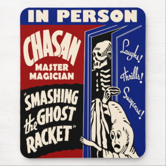Vintage Spook Show Poster Mousepad