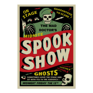 George Val George Spook Show//Ghost Show Poster