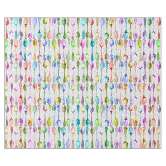 Vintage Spoons in Rainbow Colours on Lace Wrapping Paper