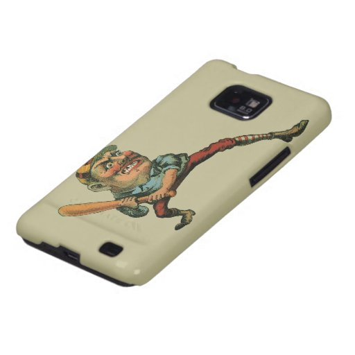 Vintage Sports, Angry Baseball Player Samsung Galaxy SII Cover