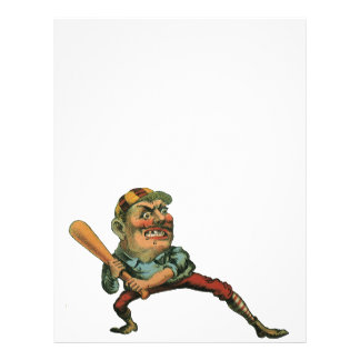 Vintage Sports, Angry Baseball Player Personalized Flyer
