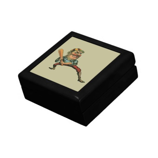 Vintage Sports, Angry Baseball Player Gift Box