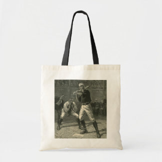 Vintage Sports, Antique Baseball Players Budget Tote Bag