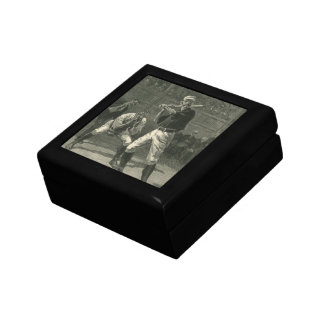 Vintage Sports, Antique Baseball Players Small Square Gift Box