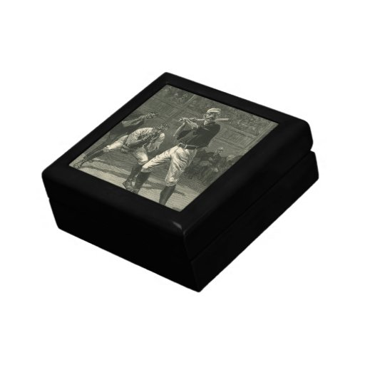 Vintage Sports, Antique Baseball Players Gift Boxes
