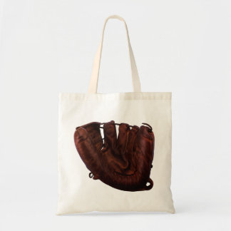 Vintage Sports, Antique Leather Baseball Glove Budget Tote Bag