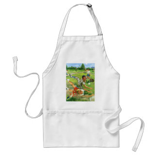 Vintage Sports Baseball, Children Teams Playing Standard Apron