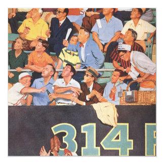 Vintage Sports Baseball Fans at a Game Invitation