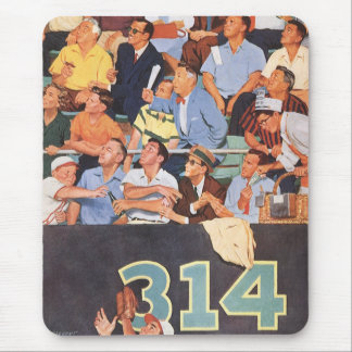 Vintage Sports Baseball Fans Watching a Game Mouse Pad