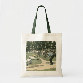 Vintage Sports, Baseball Game Budget Tote Bag