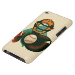 Vintage Sports, Baseball Player, Catcher with Mitt Barely There iPod Case