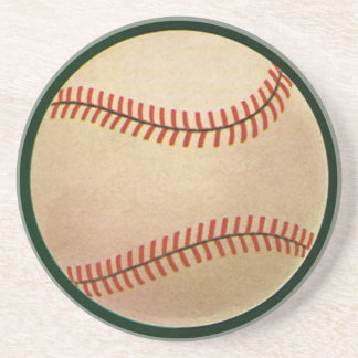 Vintage Sports, Baseball Player, Catcher with Mitt Coaster