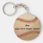 Vintage Sports, Baseball Player, Catcher with Mitt Keychain