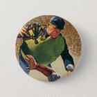 Vintage Sports Baseball Player, the Umpire 6 Cm Round Badge