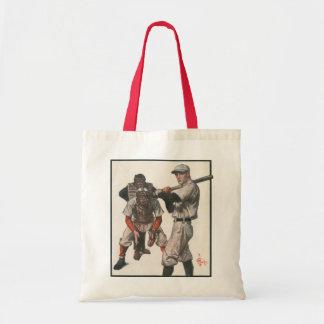 Vintage Sports Baseball Players Canvas Bag