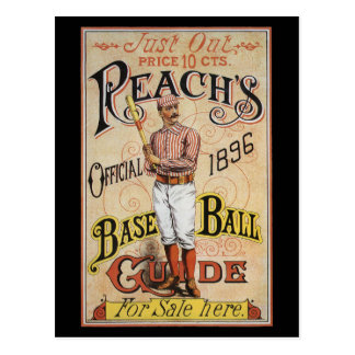 Vintage Sports Baseball, Reach's Guide Cover Art Postcard