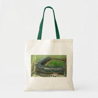 Vintage Sports Baseball Stadium, Aerial View Canvas Bags