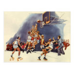 Vintage Sports Basketball Players Game Postcard