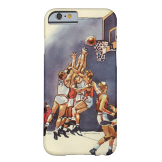 Vintage Sports, Basketball Players in a Game Barely There iPhone 6 Case