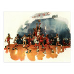 Vintage Sports, Basketball Players Playing a Game Postcard