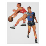Vintage Sports, Basketball Players Poster
