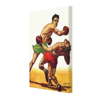 Vintage Sports Boxers Boxing Fight Canvas Print