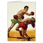 Vintage Sports, Boxers Boxing Fight Greeting Card
