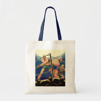 Vintage Sports, Boxers in a Boxing Match Budget Tote Bag