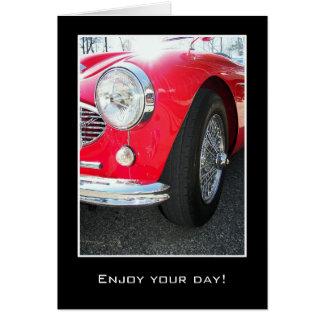 vintage sports car card