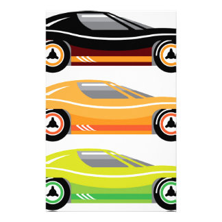 Vintage Sports car Simple basic Vector Stationery
