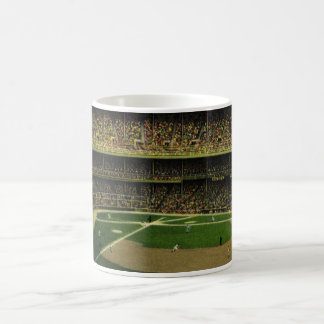 Vintage Sports, Flags and Fans in Baseball Stadium Coffee Mug