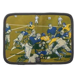 Vintage Sports Football Game, Blue vs Gold Teams Planner