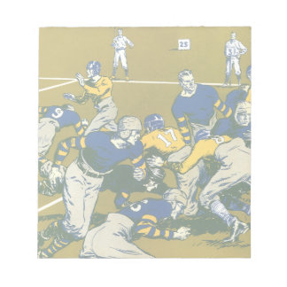 Vintage Sports Football Game, Gold vs. Blue Teams Notepad
