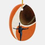Vintage Sports, Football Player Kicking Ball Ornament