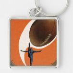 Vintage Sports, Football Player Kicking Ball Key Chain