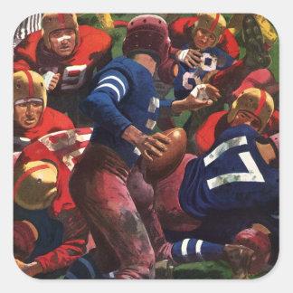 Vintage Sports Football Player Quarterback Square Sticker