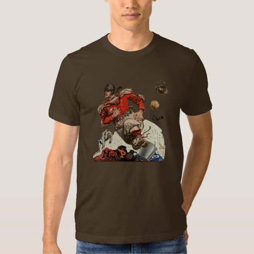 Vintage Sports Football Quarterback Player Running Tees