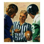 Vintage Sports, Football Referee Coin Toss Poster