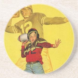 Vintage Sports, Future Football Quarterback Drink Coaster