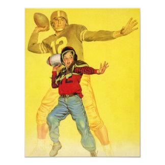 Vintage Sports, Future Football Quarterback Custom Invitations