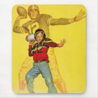 Vintage Sports, Future Football Quarterback Mouse Pad